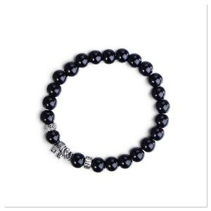 Black Jasper Elephant Bracelet